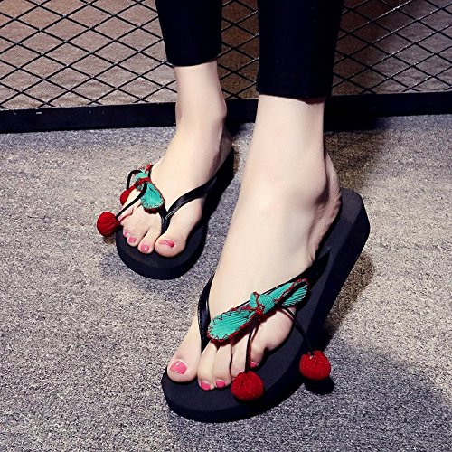 flops sandals XZ thick lovely with green tide LIUXINDA The Summer beach flip and new seaside slippery bottomed slippers Fq8gdPw