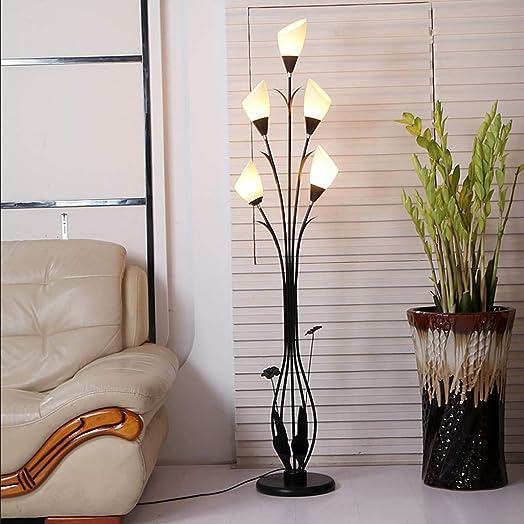 Fashion Floor Lamp Living Room Bedroom Simple Iron Art Decorative Lights Black 5 Lamp