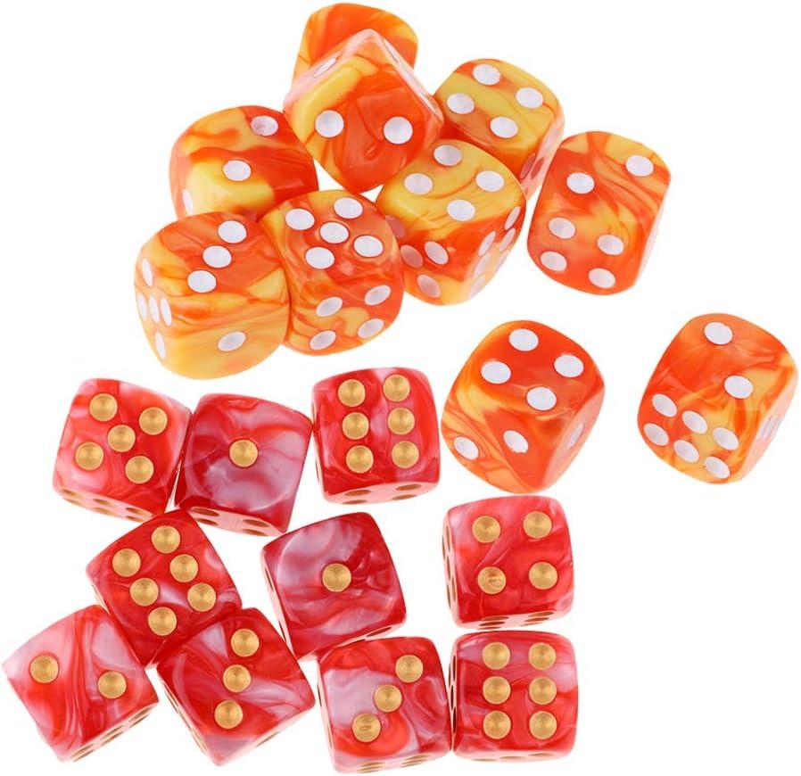 20 Piezas Dados De Juego De 6 Caras Dados De 16 Mm para Juegos De Mesa Y Enseñanza De Matemáticas: Amazon.es: Juguetes y juegos