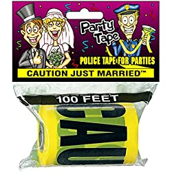 Party Tape - CAUTION JUST MARRIED - 100 Feet!