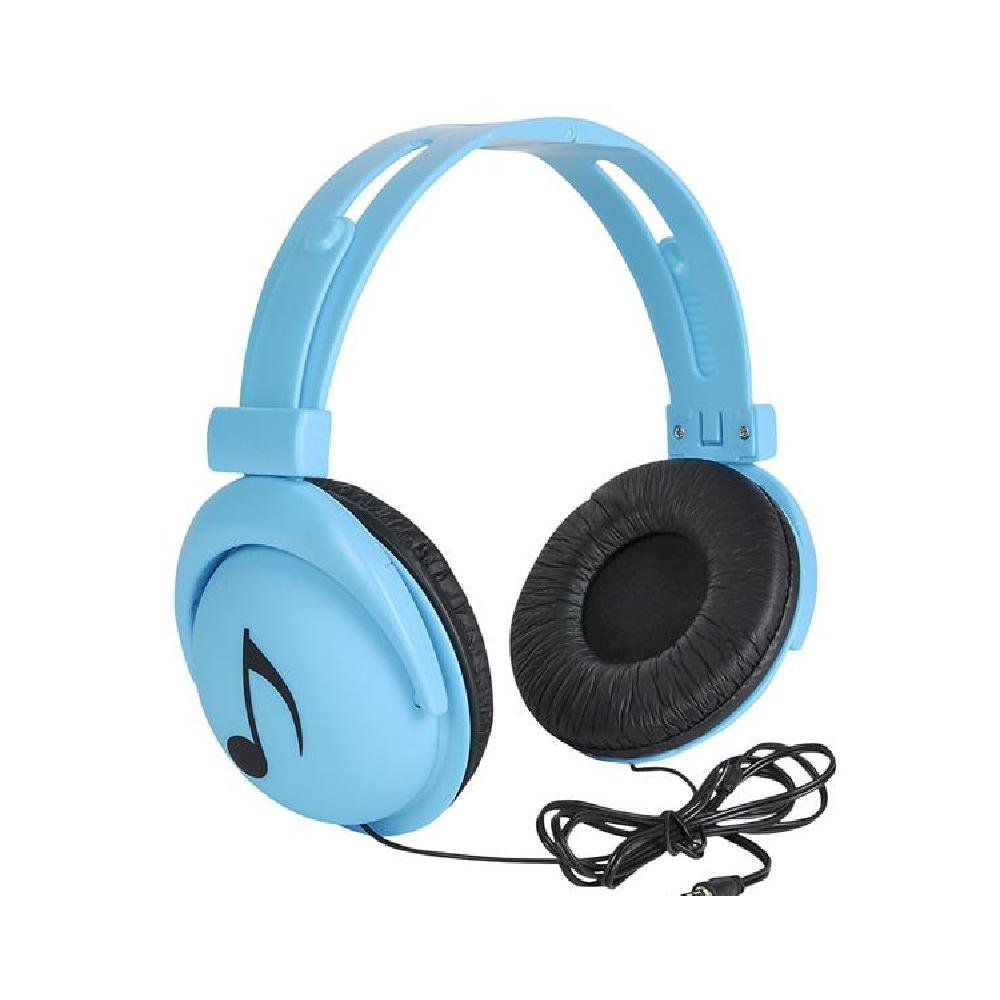 7.5'' Neon Blue Stereo Headphones (With Sticky Notes)