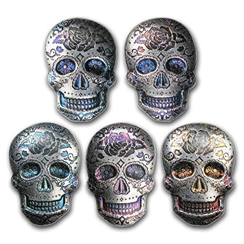 2 oz Silver Day of the Dead Sugar Skull