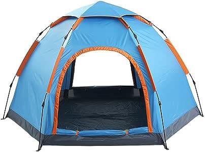 Tiendas baratas 3 - Tienda para 4 personas tienda de campaña doble tienda de campaña al aire libre impermeable transpirabilidad de secado rápido para ir de excursión acampar tienda de campaña al