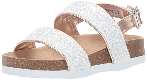fbb686e230d95 Amazon.com | The Children's Place Kids' Glitter Double Buckle Luna ...