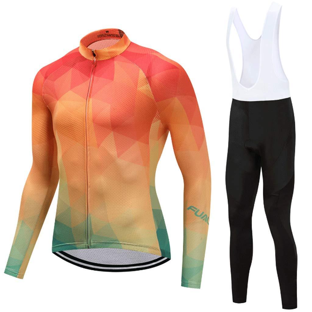 Lilongjiao Radtrikot Radsportanzug Herren und Damen Radbekleidung Langarm Kleidung Hosen und Schwamm Kissen Radtrikot