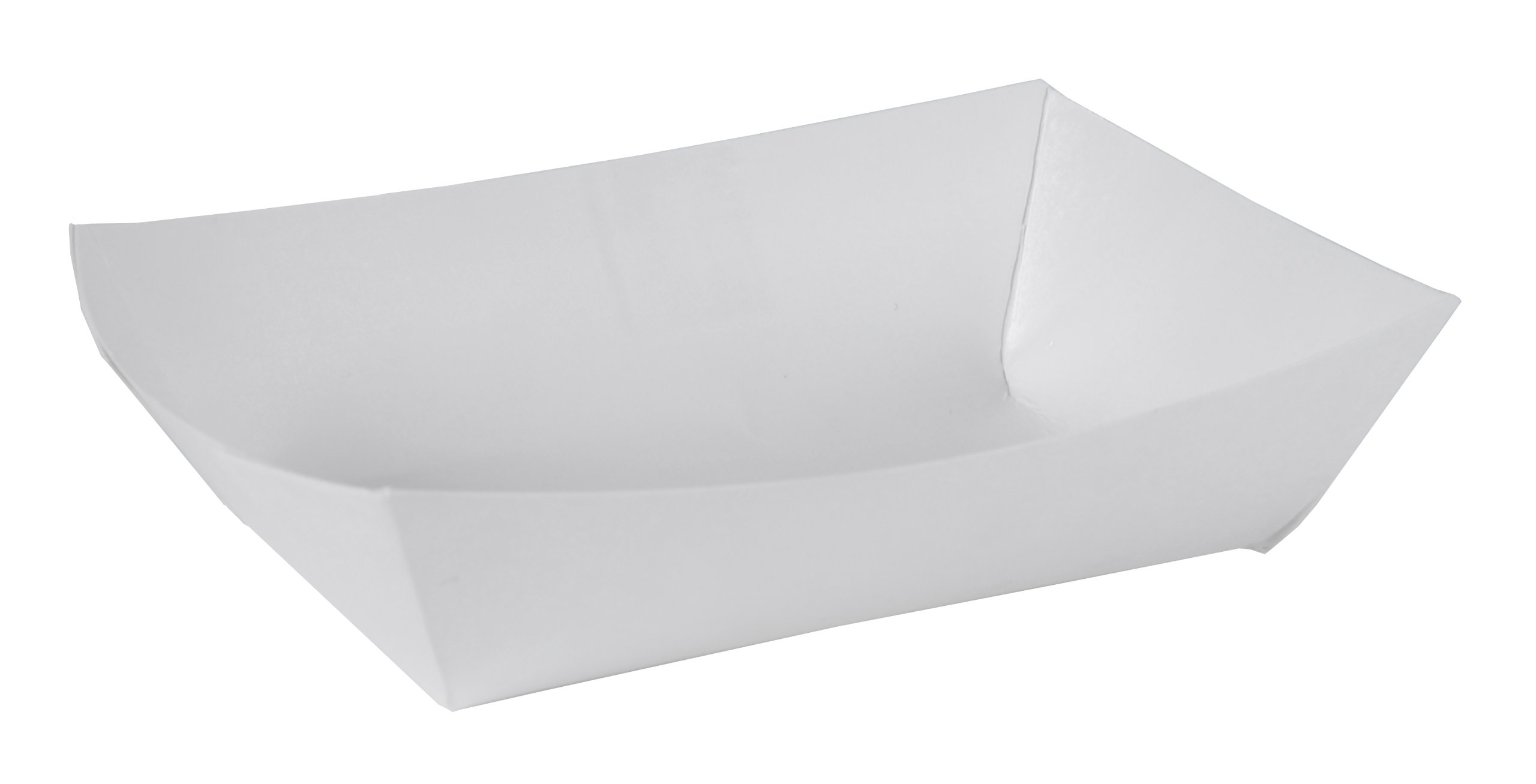 Southern Champion Tray 0552#50 Paperboard Food Tray/Boat / Bowl, 1/2 lb Capacity, White (Pack of 1000)