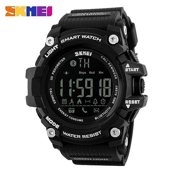 HWCOO Relojes de pulsera SKMEI teléfono móvil Bluetooth deportes reloj electrónico a prueba de agua reloj inteligente recordatorio reloj apoyo ios Android ...