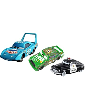MRS Set de 3 Coches de Cars ((Rey Dinoco, Sheriff y Chick Hicks