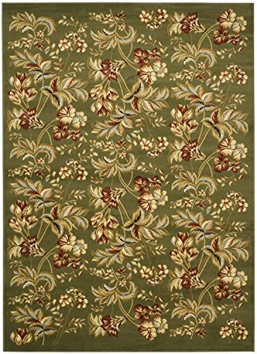 Safavieh Lyndhurst Collection LNH326B Traditional Floral Non-Shedding Stain Resistant Living Room Bedroom Area Rug