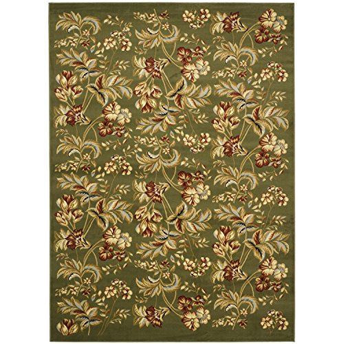 Safavieh Lyndhurst Collection LNH326B Traditional Floral Sage Area Rug (8' x 11') by Safavieh