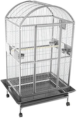 A E Cage 9004030 Platinum Dome Top Bird Cage with 1 Bar Spacing, 40 x 30