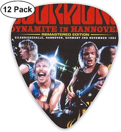 Scorpions Guitar Picks (paquete de 12) para guitarra eléctrica ...