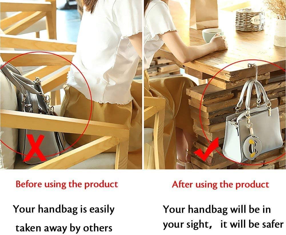 4Pcs Gancho de Bolso Monedero /& Bolso Gancho Ligero /& Duradero Hatisan 4 Estilos Diferentes Handbag Hook Hanger Bag Holde Bolso Portamonedas con Gancho para Mujeres Bolsas 4 Patrones Diferentes