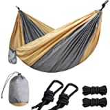 Lifeleads Camping Hammock-Nylon Double and Single Portable Parachute Lightweight for Outdoor or Indoor Backpacking…