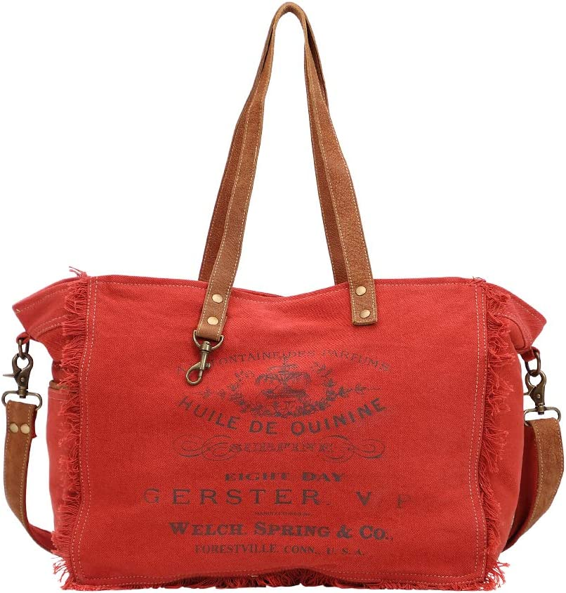Myra Bag Carmine Upcycled Canvas Leather Weekender Bag S 1437 Amazon Com The vision of an otherworldly singer and dancer manifested from someone's emotions. myra bag carmine upcycled canvas leather weekender bag s 1437