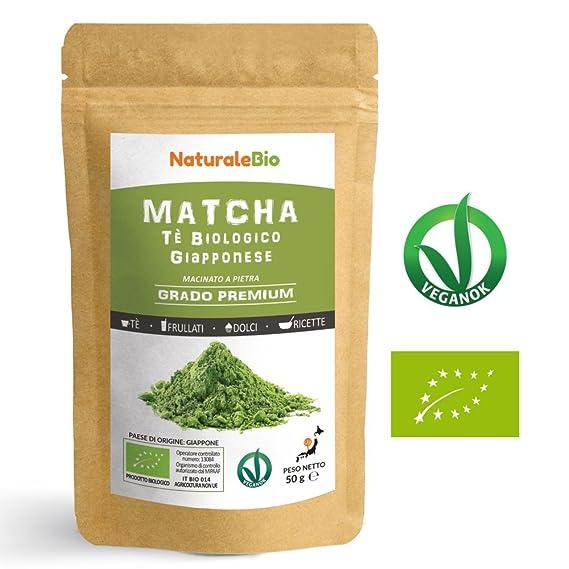 Té Verde Matcha Orgánico Japonés En Polvo [ Calidad Premium ] 50g | Matcha Biológico Cultivado En Japón, ...