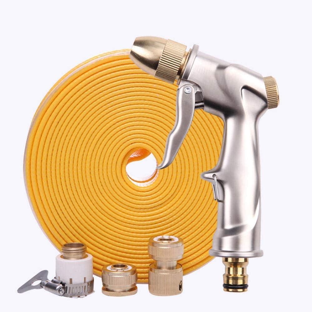 matadobody Well Made Spray Gun Garden Hose Nozzle Set High Pressure Water Gun For Car Wash Metal Water Gun Tpe Water Pipe 10M