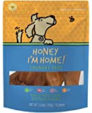 Honey I'm Home Natural Honey Coated Buffalo Chews, 6 Inch Crunchy Ears Healthy Long Lasting Dog Chews