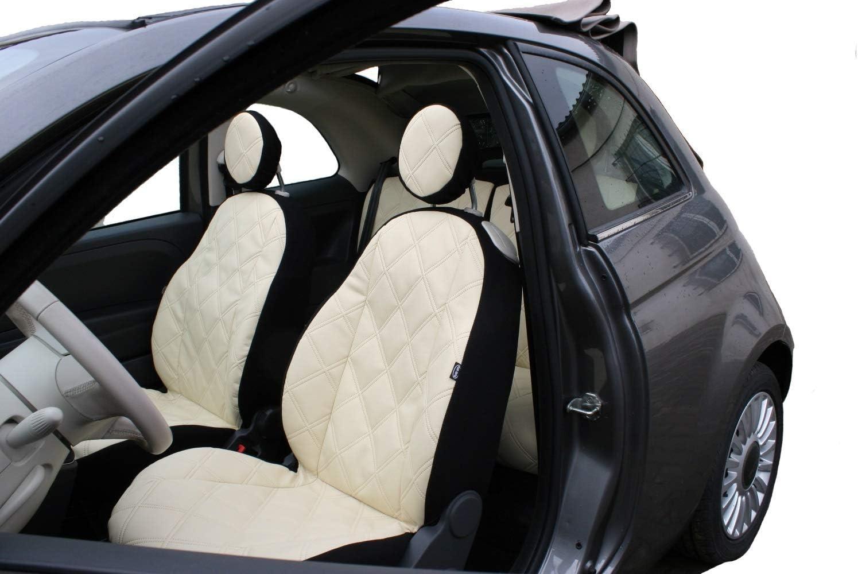 Z4l Sitzbezüge Vip Passgenau Geeignet Für Fiat 500 Beige Ein Set Auto