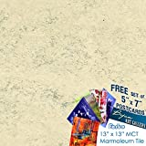 Forbo Marmoleum MCT 3050 white birch 13'' x 13'' Tiles (2.0mm thick) [53.82 sq. ft./45 tiles per box] - 1 BOX | BUNDLED with Exclusive Bijan Art Gallery Postcards as a FREE Gift