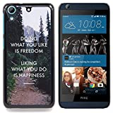 - Freedom Happiness Trees Forest Road - Slim Guard Armor Phone Case- For HTC Desire 626 & 626s Devil Case