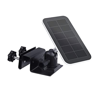 Outdoor Gutter Mount for Arlo Pro Solar Panel, Arlo Pro 3 Solar Panel, Arlo Ultra Solar Panel - by TIUIHU - Compatible with Any Other Solar Panel with 1/4 Screw - Durable and Simple (Black,1-Pack): Camera & Photo
