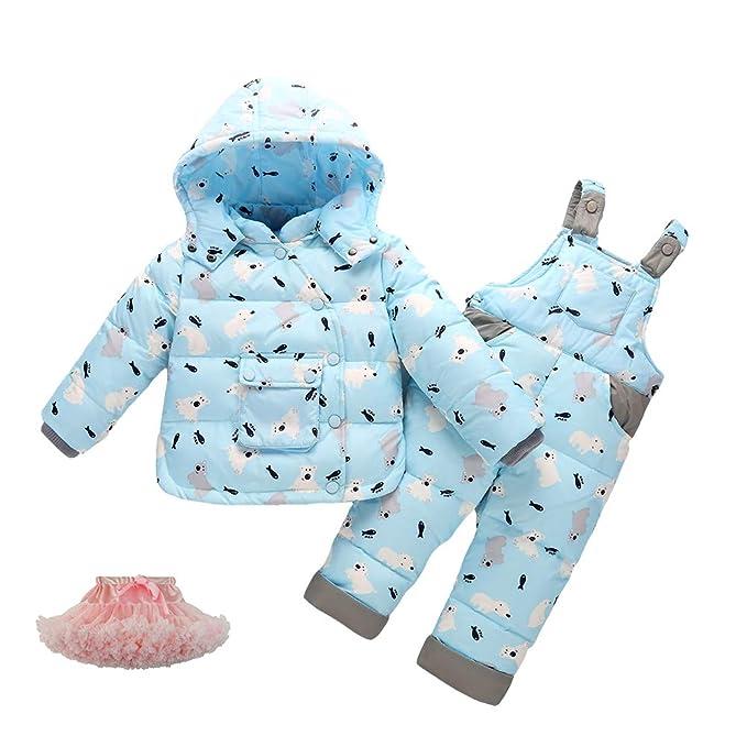 Amazon.com: M&A Baby Girls Snowsuit - Chaleco de plumón y ...