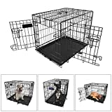 Cheap 【Medium 30 INCH】iMounTEK Folding Metal Pet Dog Puppy Cat Cage Crate Kennel W/ Tray. 2 Doors Wire Cage For Training, Removable & Washable Pan Tray [Rust Resistant] Quick Assembly!