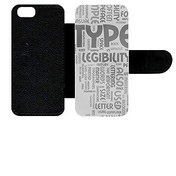 lowest price d6726 c37b9 Flip Case For Apple iPhone SE Typo: Amazon.co.uk: Electronics