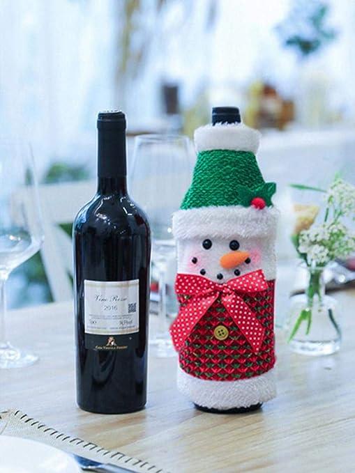 Sponsi Navidad botella de vino suéter vacaciones botella de ...