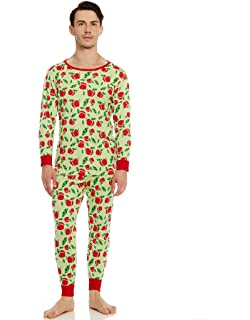 734ddf55314 Leveret Men s Pajamas Fitted 2 Piece Pjs Set 100% Organic Cotton Sleep  Pants Sleepwear (