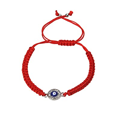bling red bracelet necklace jewelry vermeil evil gold in string eye