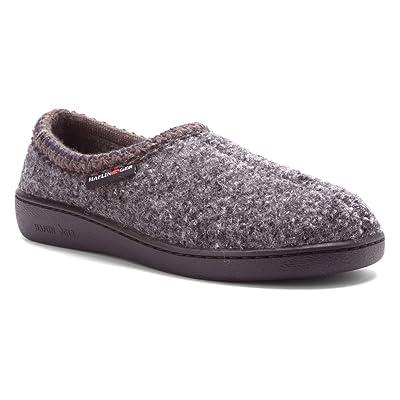 HAFLINGER Women's Grey Speckle ATB 46 (US Men's 13) B(M) US | Slippers