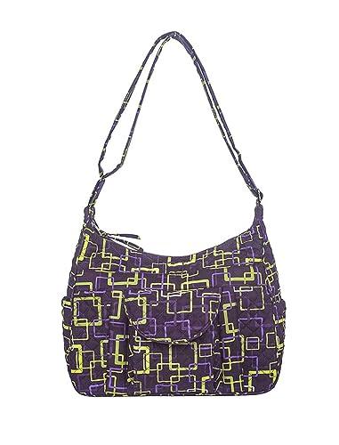 26caec983 American Made, Quilted Fabric Handbag, Cross Body Cargo by Stephanie Dawn -  Aurora