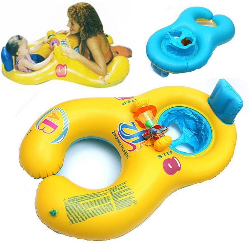VORCOOL Flotador para Padres y Bebés Flotador para Bebés Flotador para Bebés Baby Rider (Amarillo): Amazon.es: Deportes y aire libre