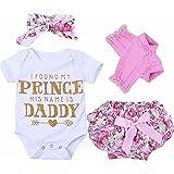 Puseky Neugeborene Mädchen Baby Spielanzug Blumen Shorts Stirnband Beinwärmer Kleidung Outfit Set