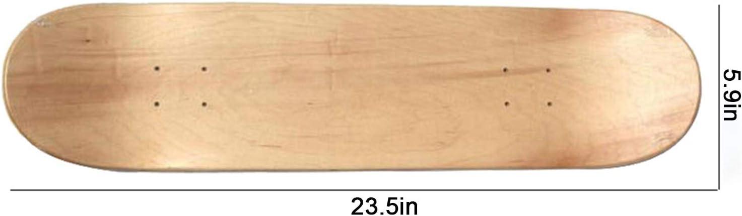 Non Compris Les Roues de Planche /à roulettes DIYARTS 60cm Skateboard Decks Double Tail Skateboard Light Decks Bois Enfants DIY Planche /à roulettes Peinte pour Pratique Planche /à roulettes Bricolage
