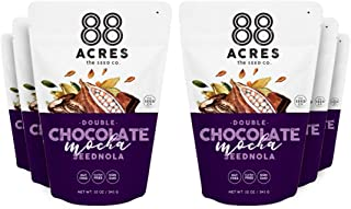 product image for 88 Acres Double Chocolate Mocha Seed'nola, Gluten-free, Nut-free, Non-GMO, Vegan, School Safe Seed-Based Granola (10 oz.) (6-Pack)