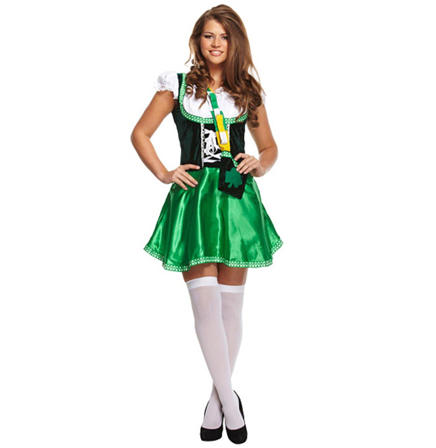 ladies fancy dress costume leprechaun g11188 irish st patricks day