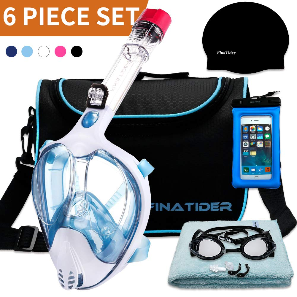 180° Panoramic Collapsible Snorkeling Mask with Camera Device Full face Snorkel Mask for Enhanced Anti-Fog and Leak-Proof Function 5 Colors Optional