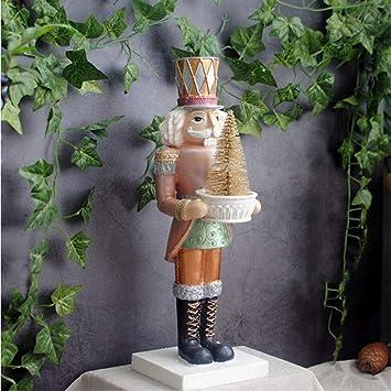 Figura Decorativa para jardín Estatuilla De Navidad Soldado Cascanueces De Estilo Vintage Estatua De Jardín De