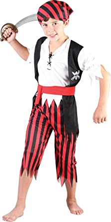 Kids Pirate Costume Boys Caribbean Book Week Day Fancy Dress Outfit Halloween