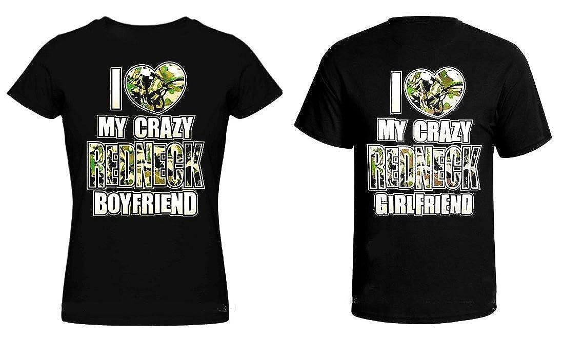 42b9fe20ea Amazon.com: I Love My Crazy Redneck Girlfriend/Boyfriend T-Shirt Set for  Couples: Clothing