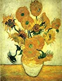 Dylviw 5D DIY Diamond Painting Kit, Van Gogh Sunflower Full Paint With Round Colourful Diamonds For Adults And Child 12X16 inches (Frame not Included) for $8.99.