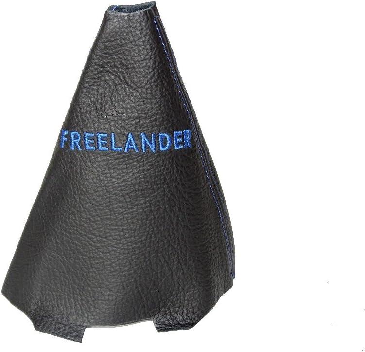 05/Automatik Leder Schaltsack schwarz blau Stickerei Freelander F/ür Land Rover Freelander 2003