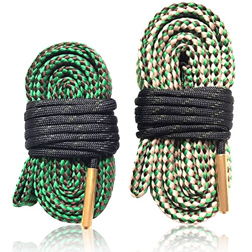 Bore Cleaner Snake Cleaner Gun Cleaning Kit Supplies Caliber Rifle Pistol Shotgun Barrel Brush for 9mm 5.56 7.62 12 GA,2 Pcs(.44-.45 Cal) (22-.223 Cal & 5.56mm + 30-.308 Cal.300.303 & ()