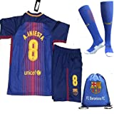 Amazon Price History for:FC Barcelona 2017/18 Kid, Youth for Lionel Messi, Luis Suarez, Neymar Jr, Iniesta & the rest of club Barcelona Jersey with short + Matching socks and Soccer Bag