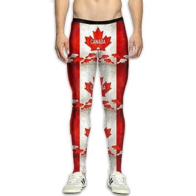 Fri Maple Leaf Canada Compression Pants/Running Tights Panel Leggings Men Tall