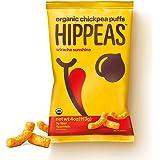HIPPEAS Organic Chickpea Puffs + Sriracha Sunshine | 4 ounce, 6 count | Vegan, Gluten-Free, Crunchy, Protein Snacks