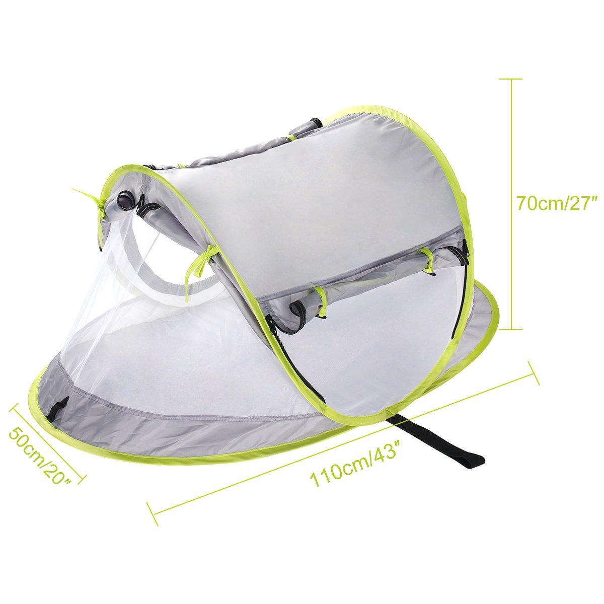 Yodensity Baby Faltbare Pop-up Moskitonetz Atmungsaktiv mit Halterung und Unten Freie Installation Outdoor Grasland Strand UV-Schutz Zelt f/ür 0-2 Jahren